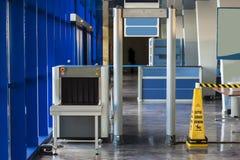 Détecteur de métaux de scanner et de rayon X Photographie stock libre de droits