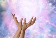 Détection de l'énergie curative magique Image stock