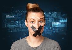 Détection et reconnaissance de visage images stock