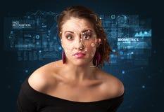 Détection et reconnaissance de visage image stock