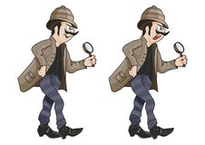détective illustration de vecteur