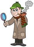 détective de dessin animé Images libres de droits