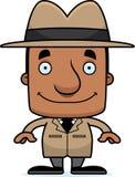 Détective de sourire Man de bande dessinée illustration de vecteur
