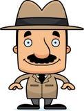 Détective de sourire Man de bande dessinée illustration libre de droits
