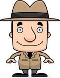 Détective de sourire Man de bande dessinée illustration stock