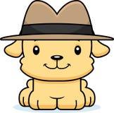 Détective de sourire Puppy de bande dessinée Photo stock
