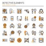 Détective Elements illustration de vecteur