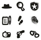 Détective Icons Freehand Fill Images libres de droits