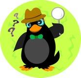Détective investigateur de pingouin Images libres de droits