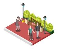 Détective privé Isometric Design Concept illustration de vecteur