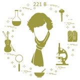 Détective privé Sherlock Holmes avec les outils et l'equipme de variété Image libre de droits