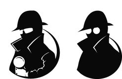 Détective - silhouette Images stock