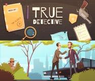 Détective Story Banners Set illustration libre de droits