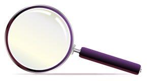 Détective Style Magnifying Glass au-dessus d'un fond blanc Photographie stock libre de droits