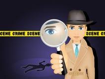 Détective sur la scène du crime Photographie stock libre de droits