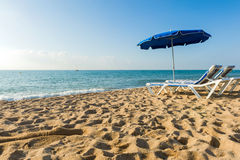 Détendez à la plage Photo libre de droits