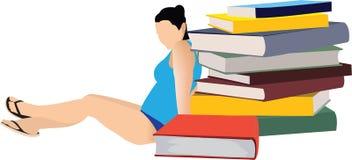 Détendez avec des livres illustration libre de droits