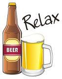 Détendez avec la boisson Photographie stock libre de droits