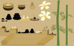 Détendez avec la station thermale saine et le massage de thérapie illustration stock