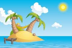 Détendez en île illustration stock