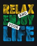 Détendez et appréciez votre vie Image libre de droits
