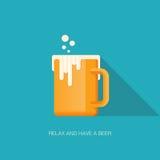 Détendez et ayez une bière illustration stock
