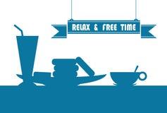 Détendez et temps gratuit illustration libre de droits