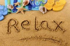 Détendez l'écriture de plage Image stock