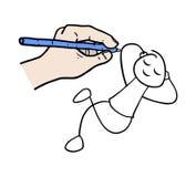 Détendez l'illustration de marionnette illustration libre de droits