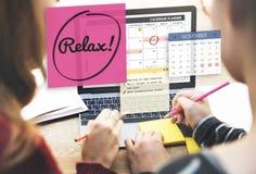 Détendez le concept de la vie de liberté de bonheur de repos de relaxation Photographie stock