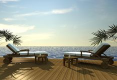 détendez le coucher du soleil tropical Image libre de droits
