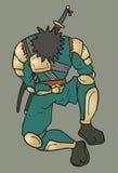 Détendez le ninja illustration de vecteur