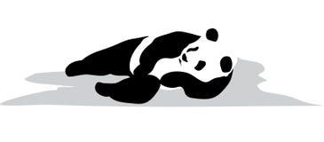 Détendez le panda illustration de vecteur