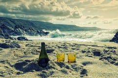 Détendez le temps sur la plage en Calabre, Italie Images libres de droits