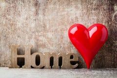 détendez Message de maison avec les lettres en bois Image libre de droits