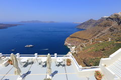 Détendez sur l'île de Santorini, Grèce Photo libre de droits
