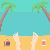 Détendez sur la plage illustration de vecteur
