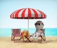 Détendez sur la plage illustration libre de droits