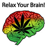 Détendez votre cerveau illustration de vecteur