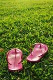 Détendu sur la zone d'herbe Photographie stock libre de droits