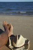 Détente à la plage Photo stock