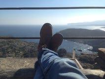 Détente dans Cap de Creus Photo stock