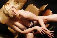 Détente dans la lingerie Image stock