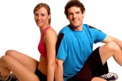 Détente de couples de forme physique Photographie stock