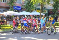 Détente de cyclistes Photos stock