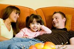 Détente de famille Photographie stock libre de droits