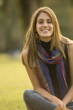 Détente de jeune femme photo libre de droits