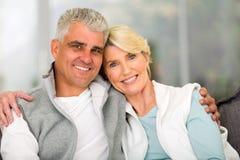 Détente mûre de couples Photographie stock libre de droits