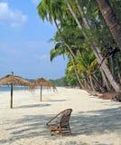 Détente sur une plage Photographie stock