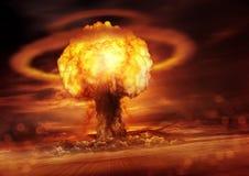Détonation de bombe nucléaire Image stock